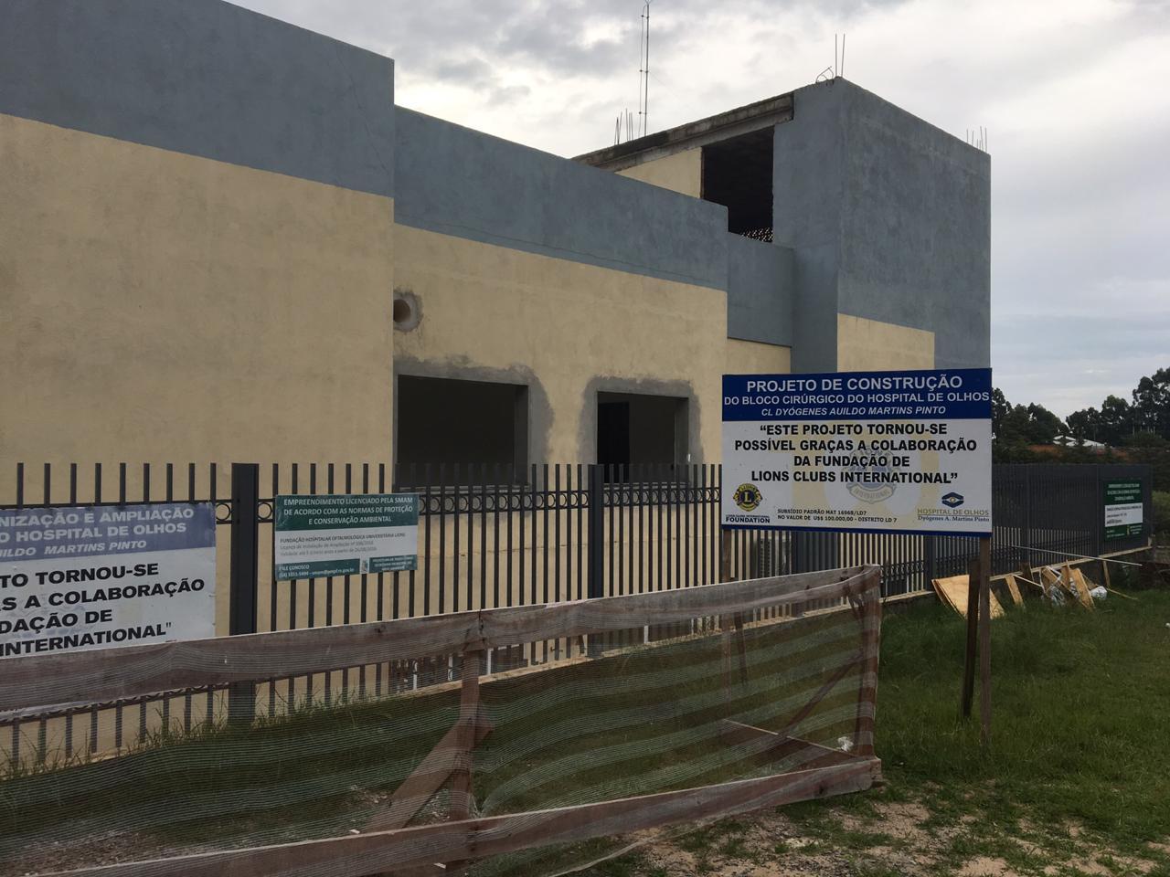 Obras estruturais e de revitalização marcam início de ano no Hospital de Olhos Lions